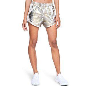 NEW Under Armour Gold Metallic Running Shorts